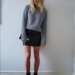 J. CREW Gray Merino Wool Mini Skirt